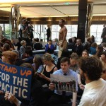"ANZ HQ in lock-down as fossil fuel protest gets ""aggressive"""
