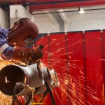 Preventing welders flash in workshops with Flexshield's welding screens