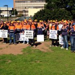 Miners rally to show support for the sector