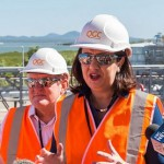 Qld premier tours newly opened QCLNG plant