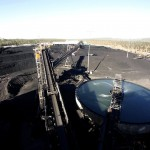 Truck rolls over at coal mine