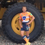 Newcastle Knights don mining high-vis jersey