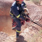 Puppy trapped 10m down mine shaft