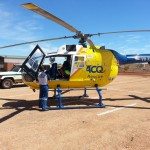 Miner airlifted suffering carbon monoxide poisoning
