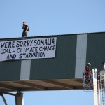 Environmental activists break into Kooragang terminal, blame coal for Somalian famine