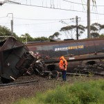 Coal train derails