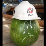 Dan the watermelon shows the devastating effect falling objects can have