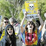 Protesters miss QLD mining minister