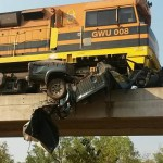 Truck struck by manganese train