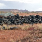 Tyres dumped on Rio Tinto Pilbara site