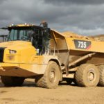 Caterpillar unveils trio of articulated trucks