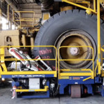 BHP introduces safer Saraji tyre handling system